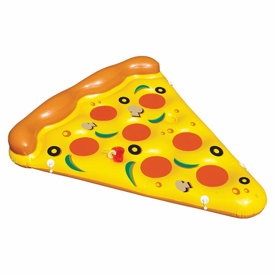 Giant Inflatable Pizza Slice Pool Float - Join Multiple Together! - COLE