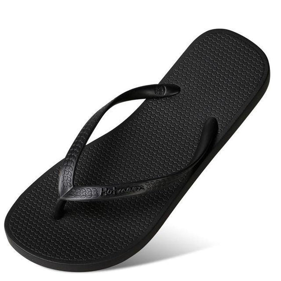 Ebony Black Slim Thongs - COLE