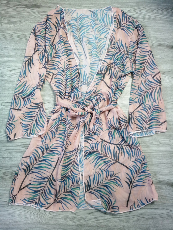 Leaf Print Bikini Cover Up - COLE