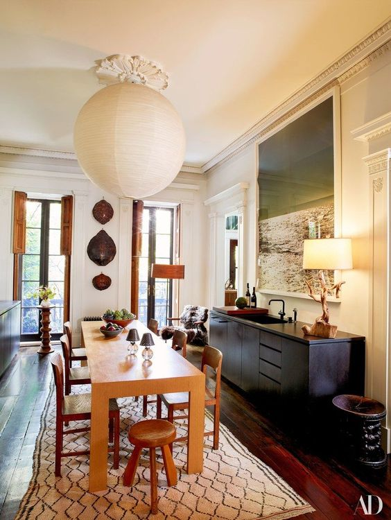 beautiful rooms with beni ourain: a luxury dining room featured in architectural digest