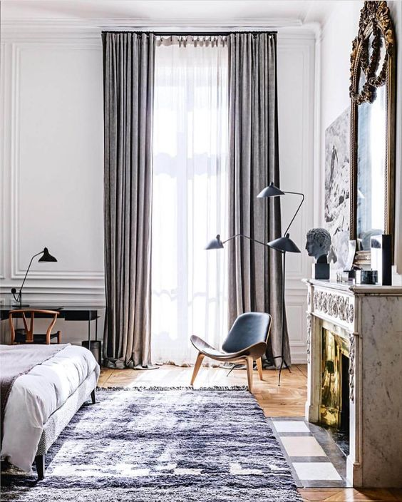 beautiful rooms with beni ourain: a luxurious custom size extra large beni ourain beni mrirt in this elegant european bedroom