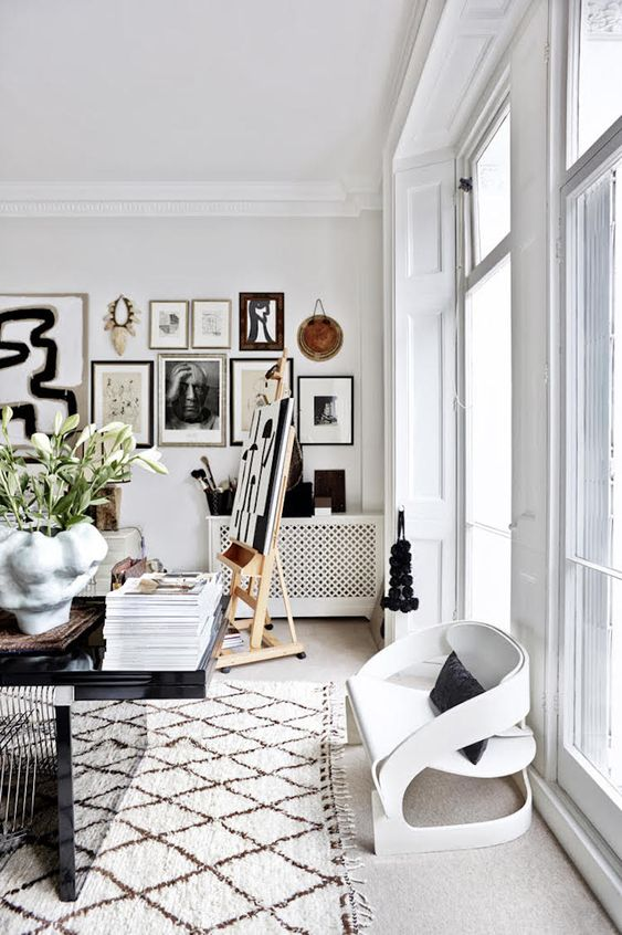 beautiful rooms with beni ourain: the home of Malene Birger in the book, Move and Work