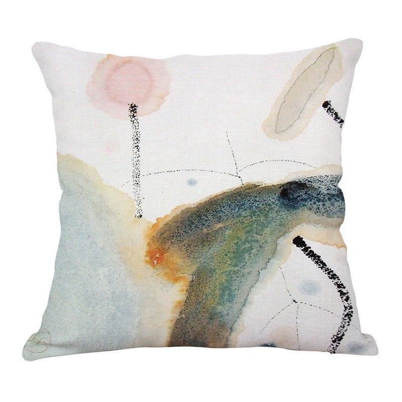 Abstract Buds Pillow