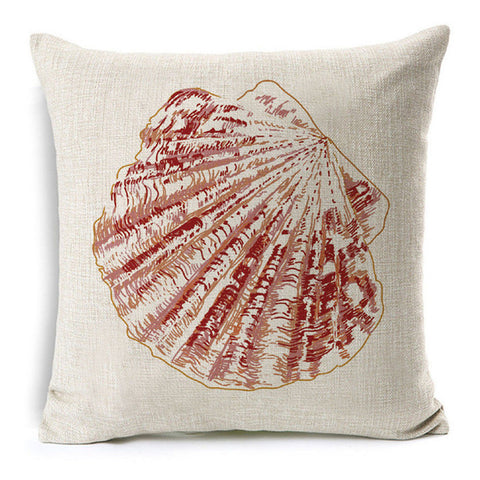 Pink Shell Pillow
