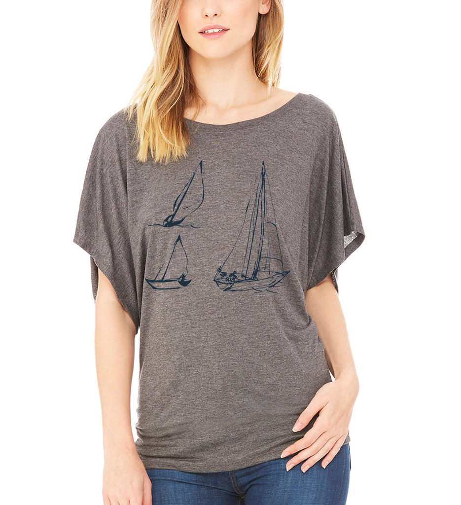 Sailboats Dolman Tee