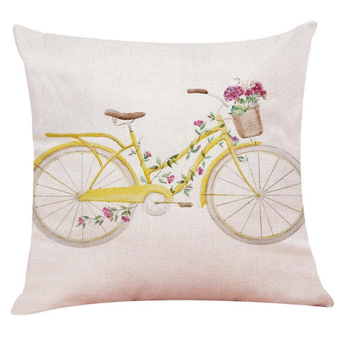 Yellow Bike Pillow