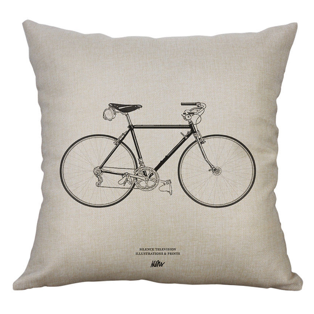 Vintage Bike Pillow