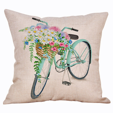 Flower Basket Bike Pillow