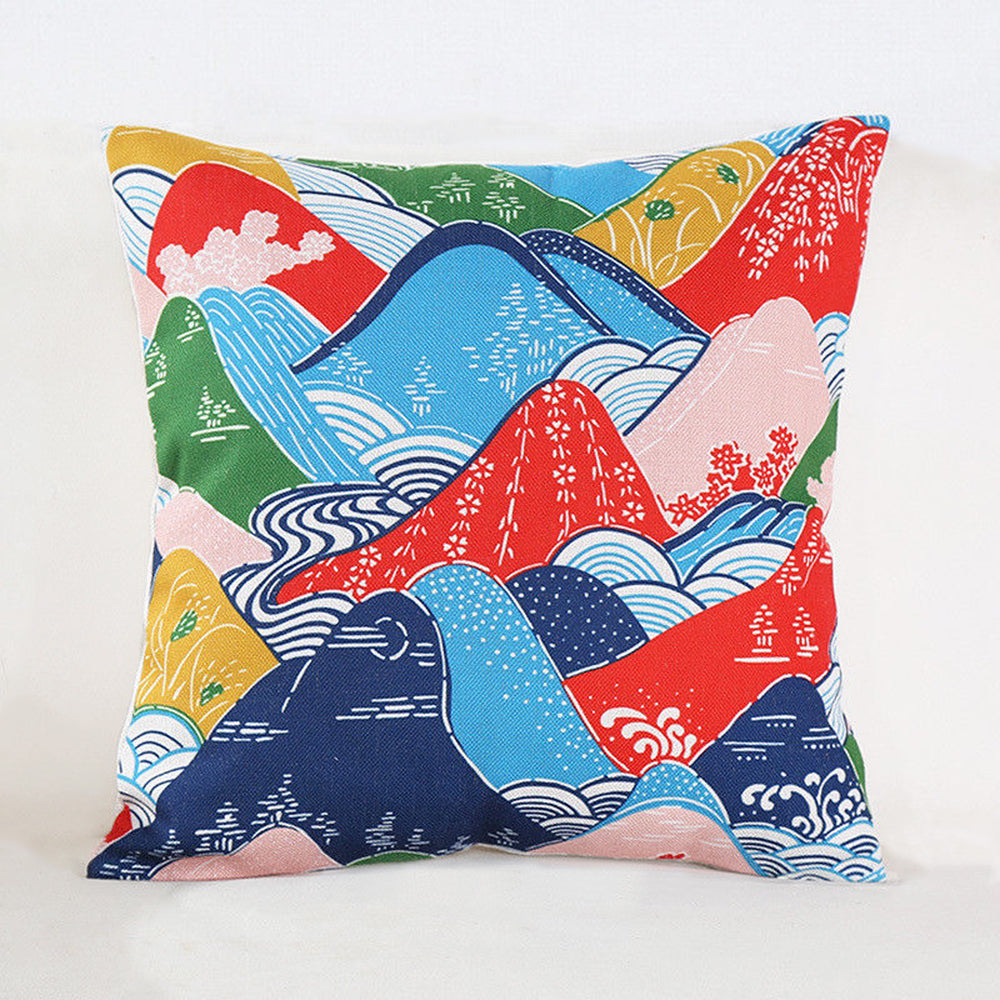 Mountains in Japan Pillow