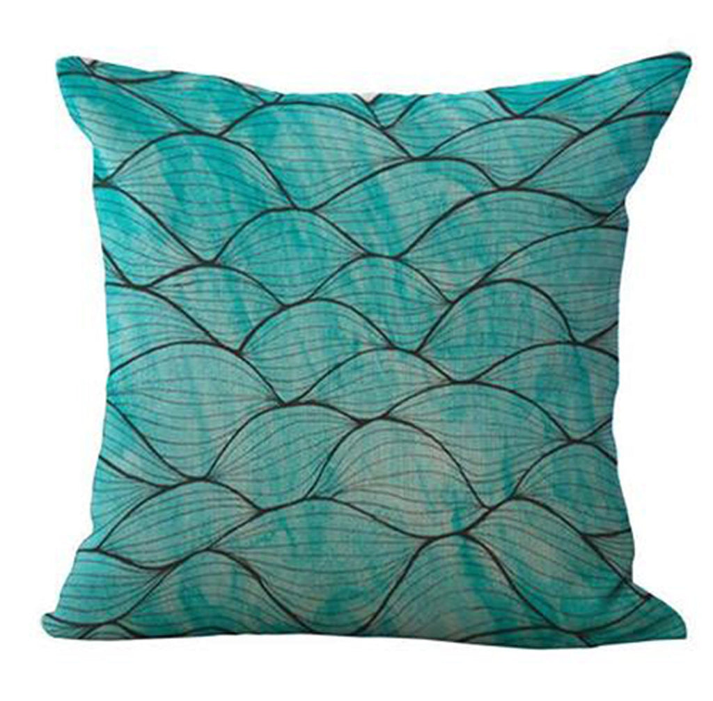 Wide Blue Sea Pillow