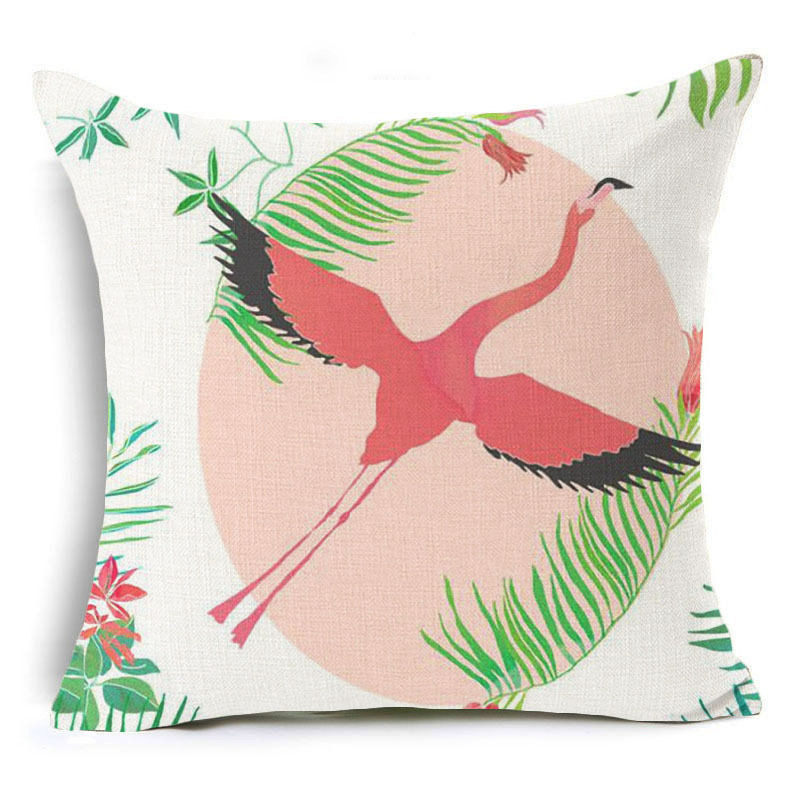 Flying Flamingo Pillow