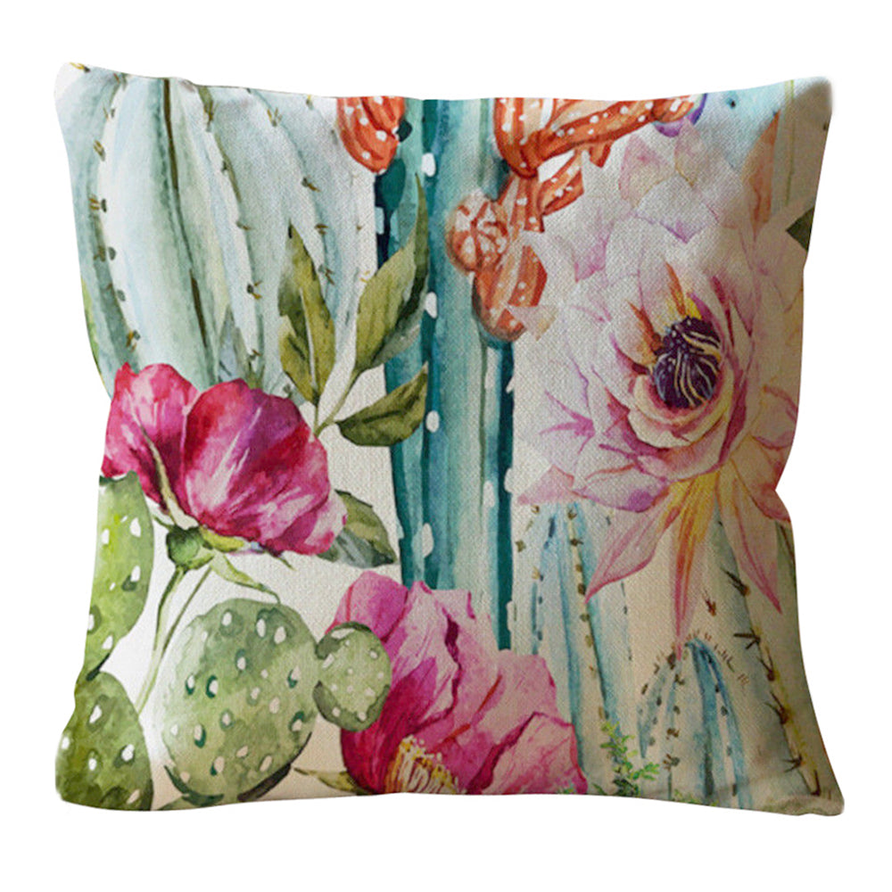 Cactus Flowers Pillow