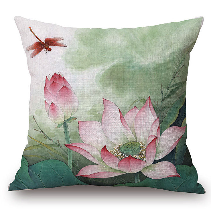 Dragonfly Pink Pillow