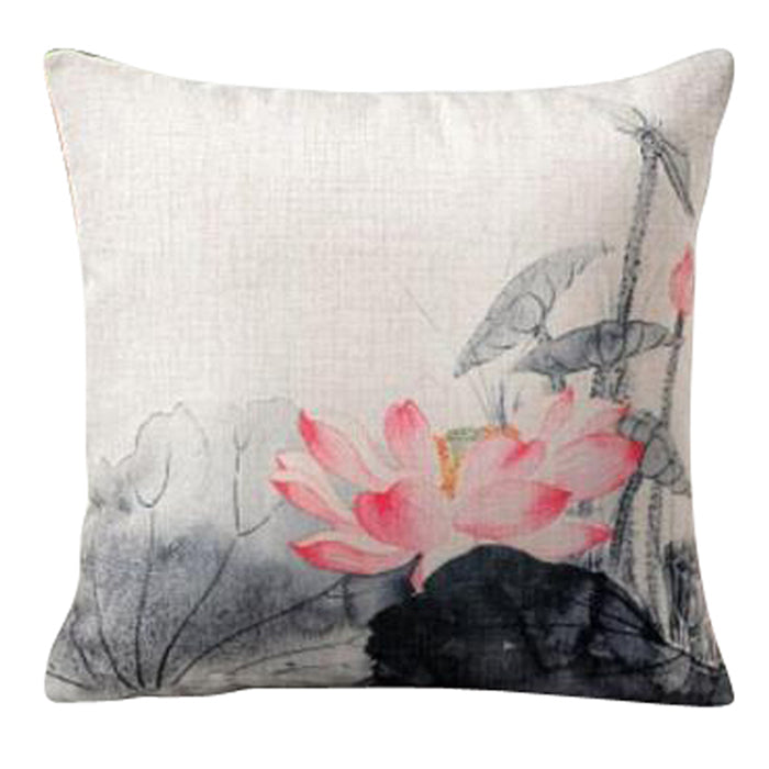 Pink Lotus Pillow