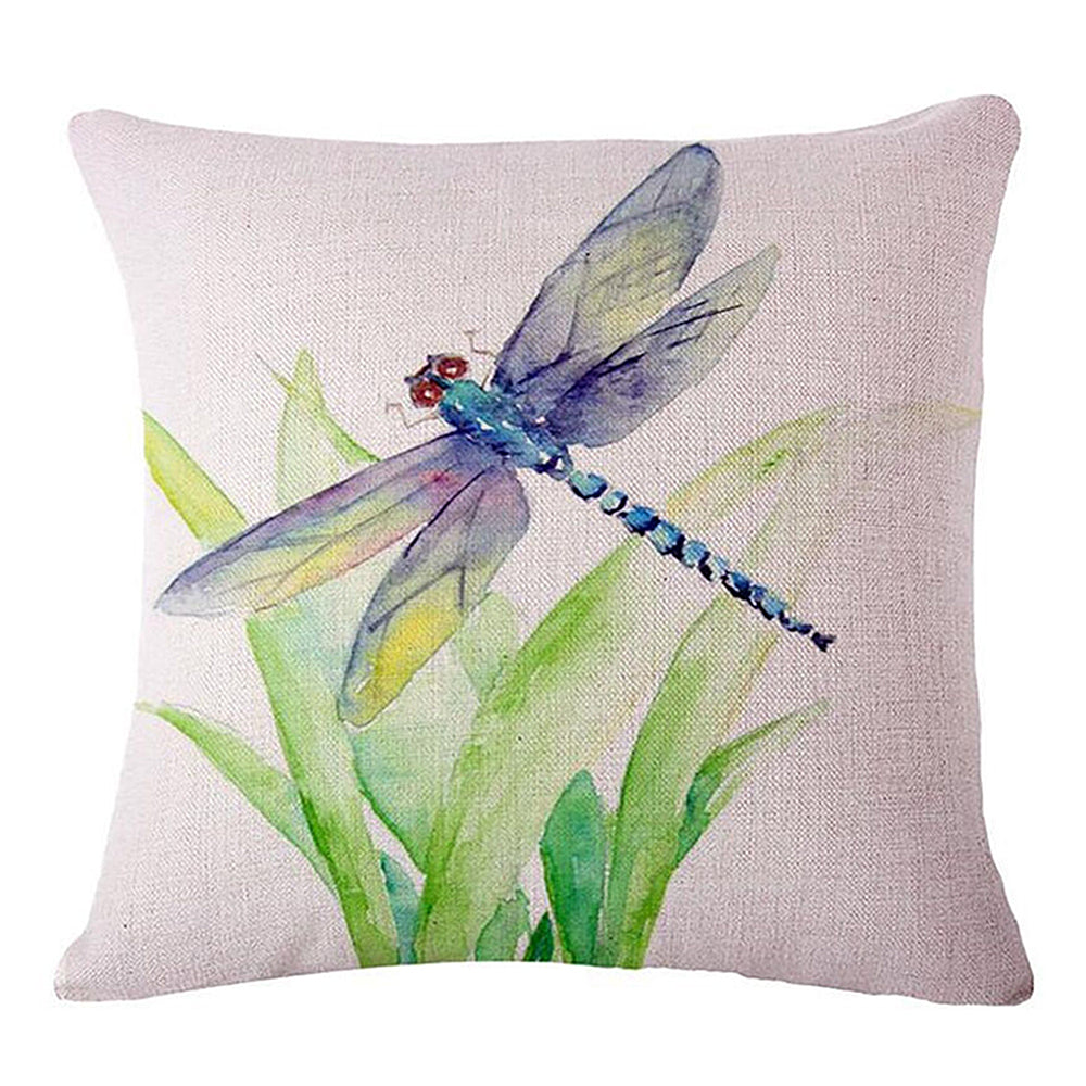 Blue Dragonfly Pillow