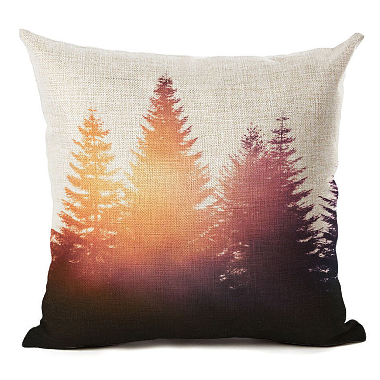 Forest Sunset Pillow
