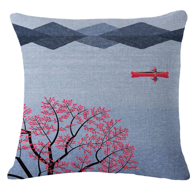 Dawn on a River Pillow