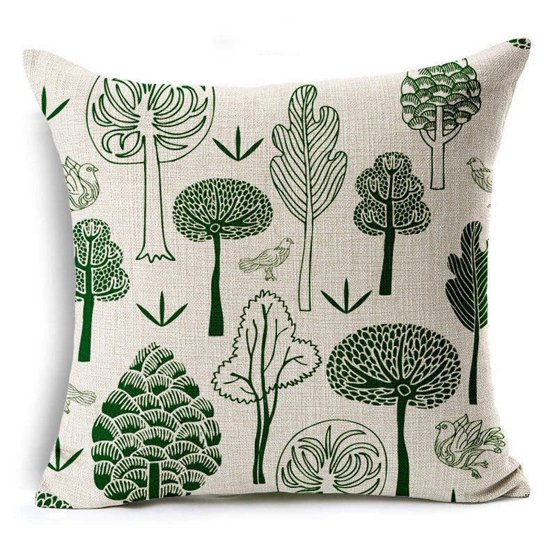 Forest Illustrated Pillow