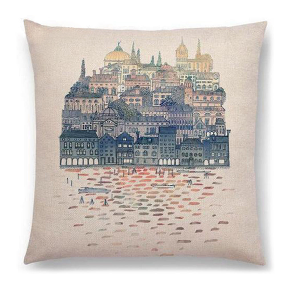 Water Town Pillow