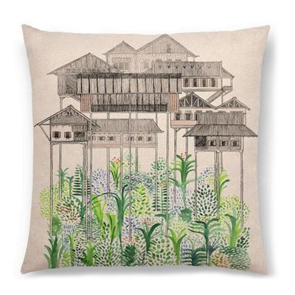 Treehouses Pillow