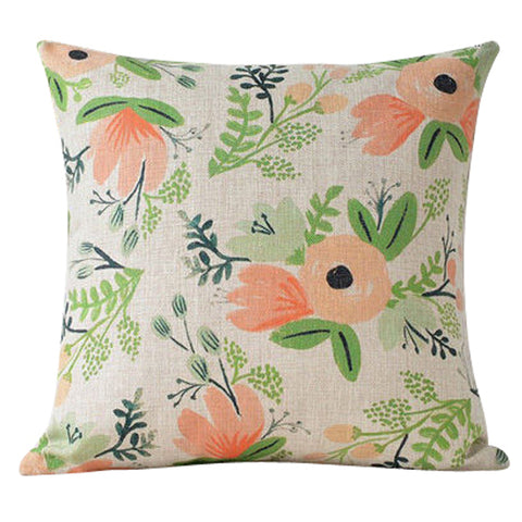 Peach Colored Blossoms Pillow