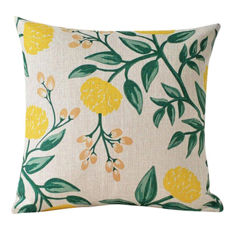 Yellow Blossoms Pillow