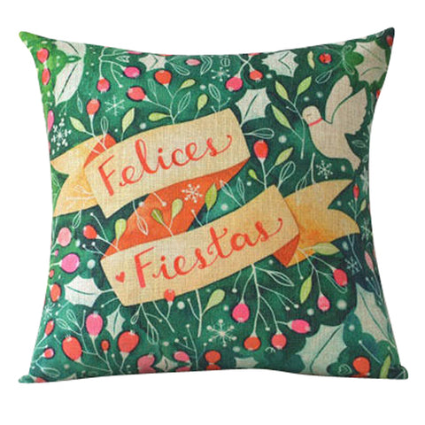 Felices Fiestas Pillow