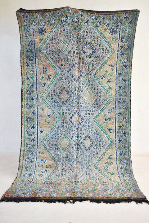 "FIELD 11'1"" x 6'1"" - Beni ourain, vintage moroccan rug, beni mguild, custom rug - the gardener's house"