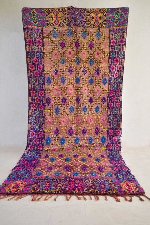"FIESTA 13'8"" x 6'2"" - Beni ourain, vintage moroccan rug, beni mguild, custom rug - the gardener's house"