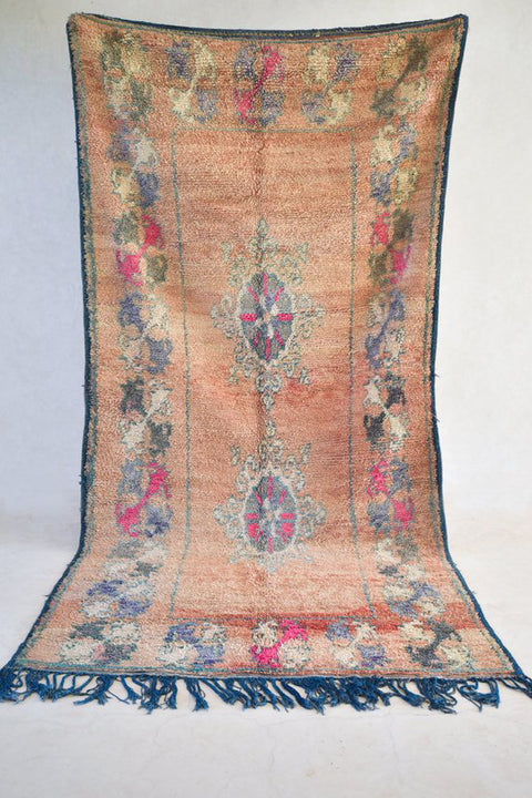"CREST 12'9"" x 6'2"" - Beni ourain, vintage moroccan rug, beni mguild, custom rug - the gardener's house"
