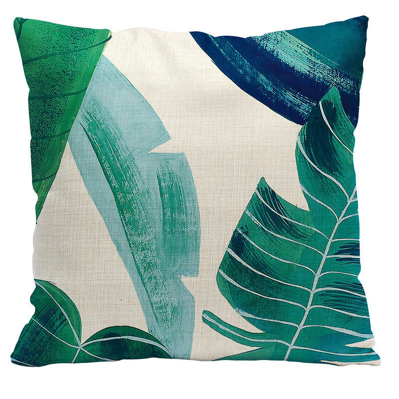 Painted Palms Pillow