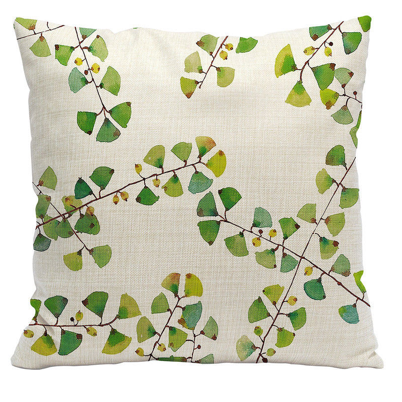 The Illustrated Leaf Pillow