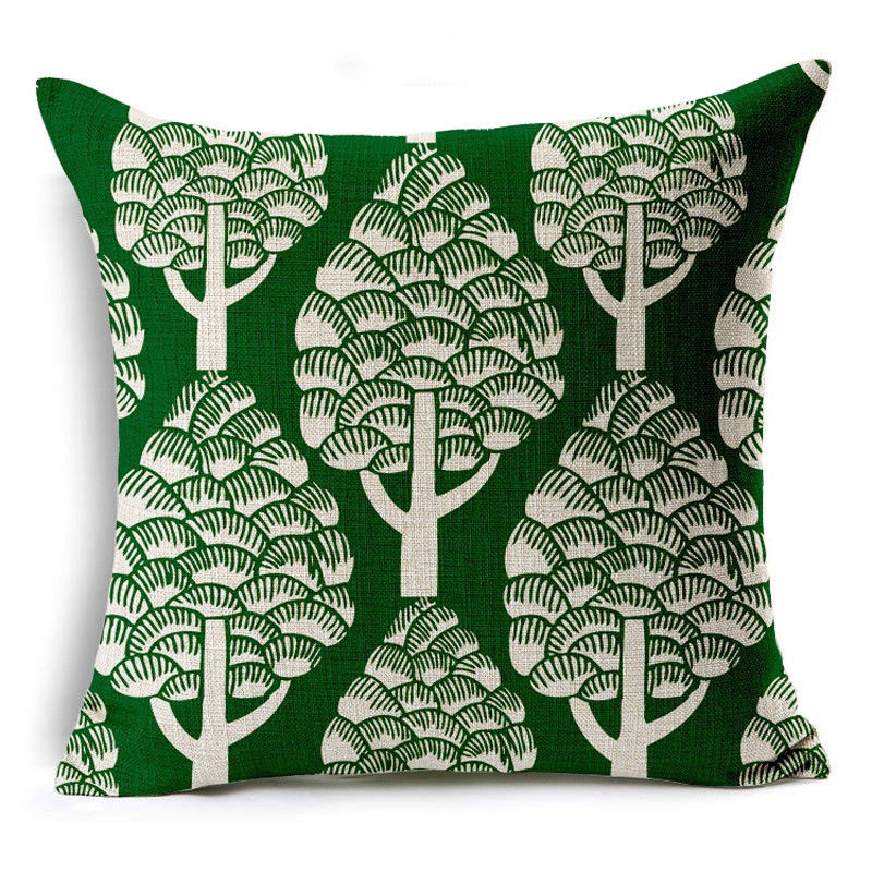 A Different Green Pillow
