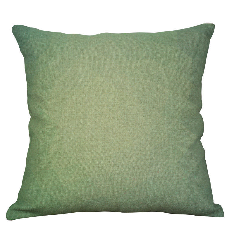 Pixelated Green Pillow