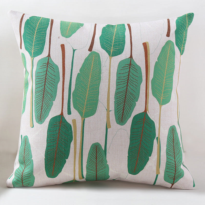 The Bright Green Leaf Pillow