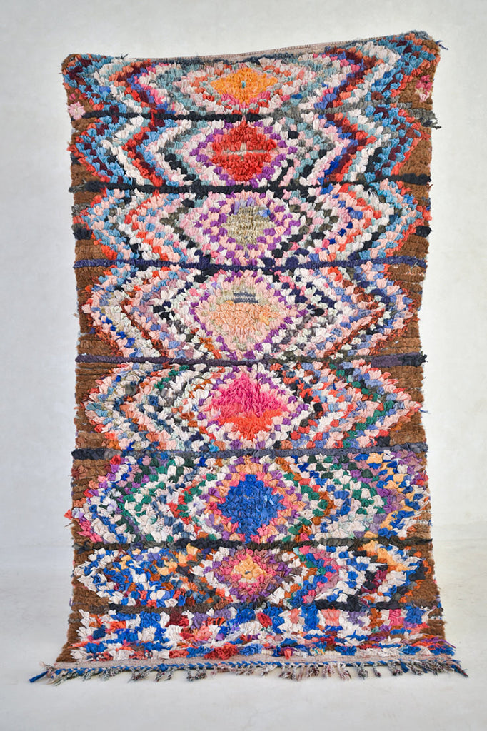 "The INN at MÖLLEVÅNGEN Boucherouite Rug. 6'4"" x 3'5"""