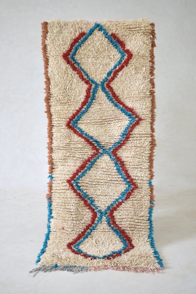 "The SEA AROUND US Azilal Runner Rug. 5'7"" x 2'3"""