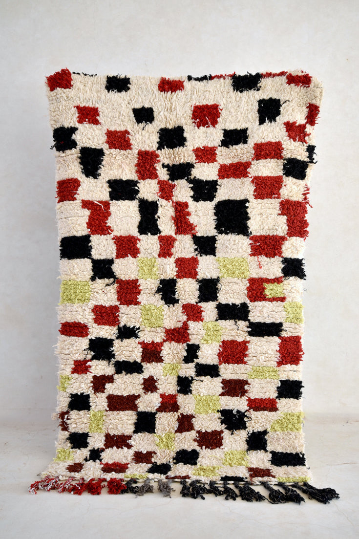 "PIXELATED SUNSET Boucherouite Rug. 6'4"" x 3'8"""