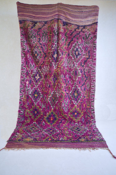 "PASSAGE 11'6""x6'1"" - Beni ourain, vintage moroccan rug, beni mguild, custom rug - the gardener's house"