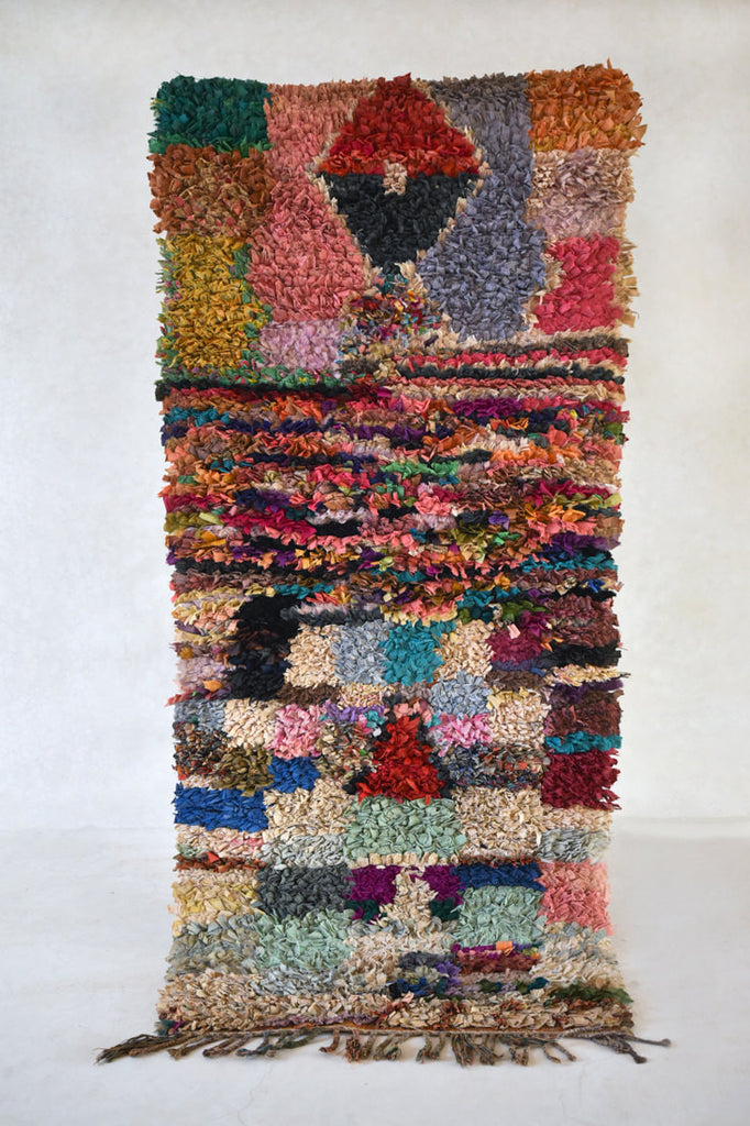 "SUMMER FIELDS Boucherouite Runner Rug. 8'1"" x 3'6"""