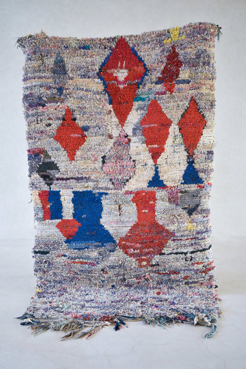 I Can STILL HEAR The WAVES Boucherouite Rug. 6' x 3'6""