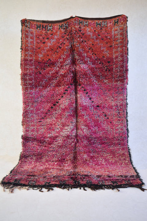 "VALLEY 10'2""x6'2"" - Beni ourain, vintage moroccan rug, beni mguild, custom rug - the gardener's house"
