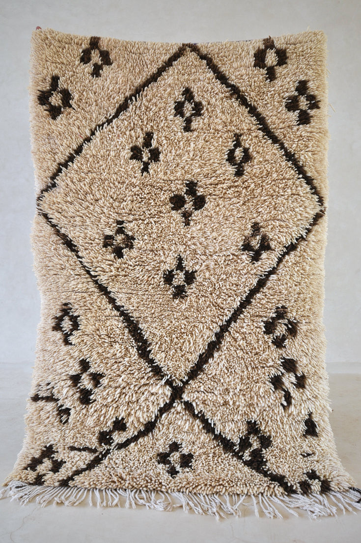 "THOSE Who DREAM By DAY Beni Ourain Rug. 5'2"" x 3'4"" - Beni ourain, vintage moroccan rug, beni mguild, custom rug - the gardener's house"