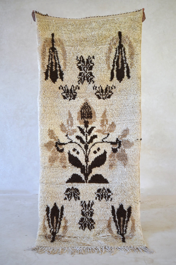 "The SEASON When FLOWERS Expand Their WINGS Azilal Runner Rug. 6'5"" x 2'9"""