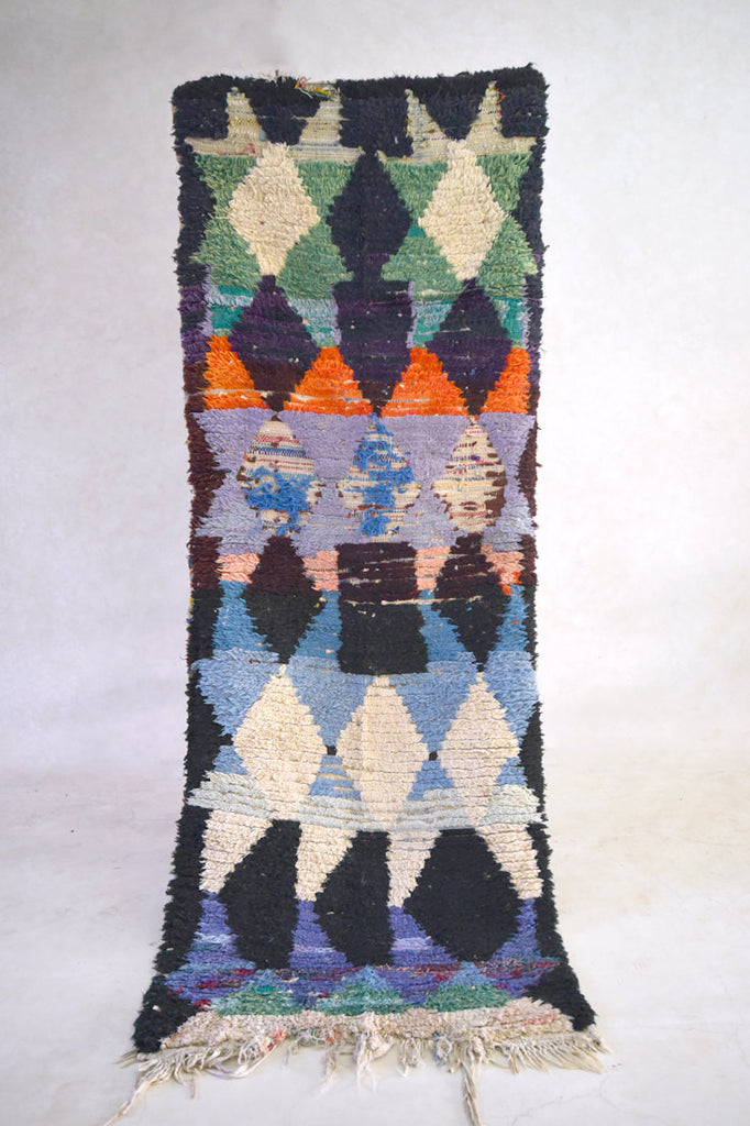 SPRING TAKING SHAPE Boucherouite Runner Rug. 8' x 3'