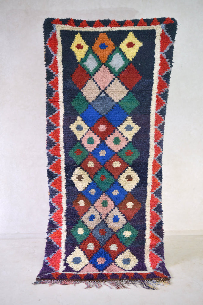 "The AMATEUR EMIGRANT Boucherouite Rug. 8'2"" x 3'11"""