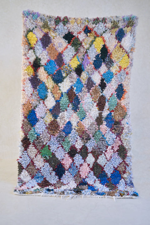"A SPARKLE on the WATER Boucherouite Rug. 6'2"" x 3'9''"