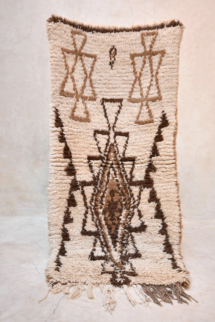 "TRIBAL MEMORIES Azilal Runner Rug. 5'3"" x 2'6"""