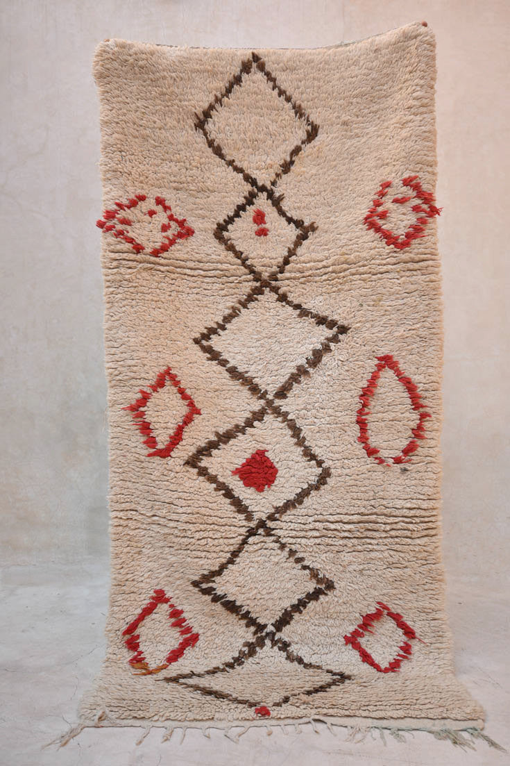 "OLD CREOLE DAYS Boucherouite Rug. 5'10"" x 2'11"""
