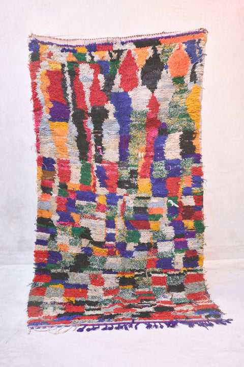 The ARTIST's EYE Boucherouite Rug. 7' x 3'10""